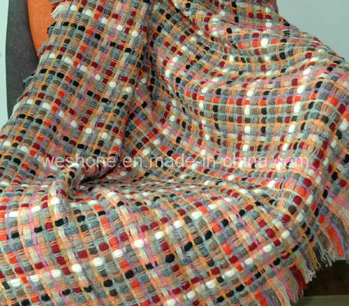 Wool Throw, Wool Blanket, Throw (WT-090141)