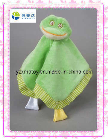 Green Frog Soft Plush Baby Blanket