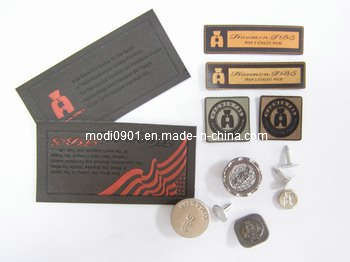 Leather Tag Fashion Design Custom Embossed Leather Patch, Garment Jeans Leather Patch Labels