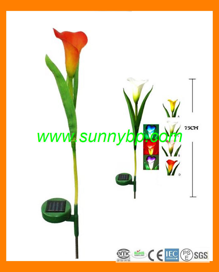 Solar Outdoor Lighting LED Rose Decoration Garden Lamp