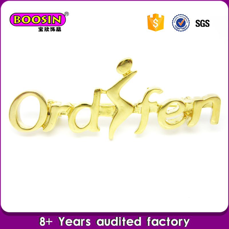 Wholesale Custom Metal Alloy Gold Filled Jewelry Logo Brooch Pin