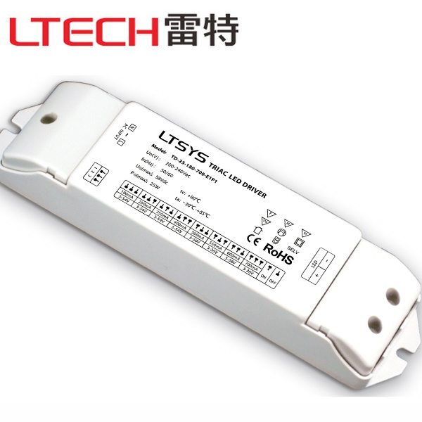Constant Current Triac Dimmable LED Driver Td-25-180-700-E1p1