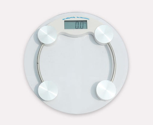 180kg Cricular Shape Glass Top Bathroom Scale