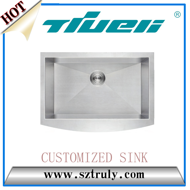 Hot Sale Wholesale 304 Stainless Steel Sanitary Wares Apron Sink