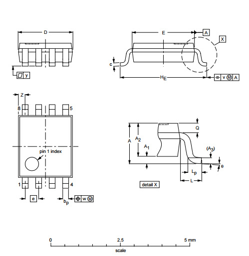 Integrated Circuit Voltage-Level Translator IC PCA9306DC