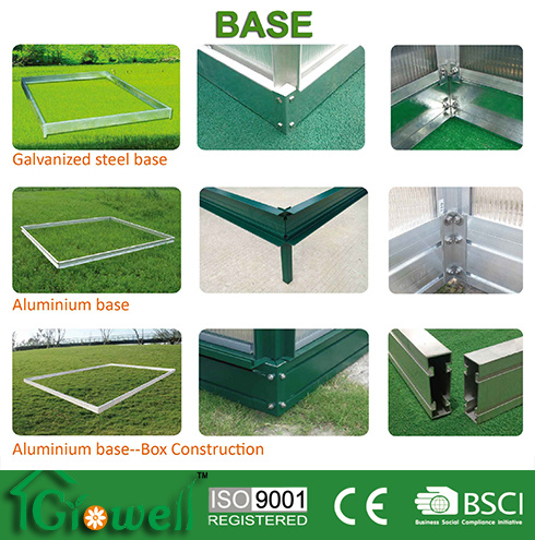Greenhouse Base (Aluminium/Anodised Silver/Green) B-1