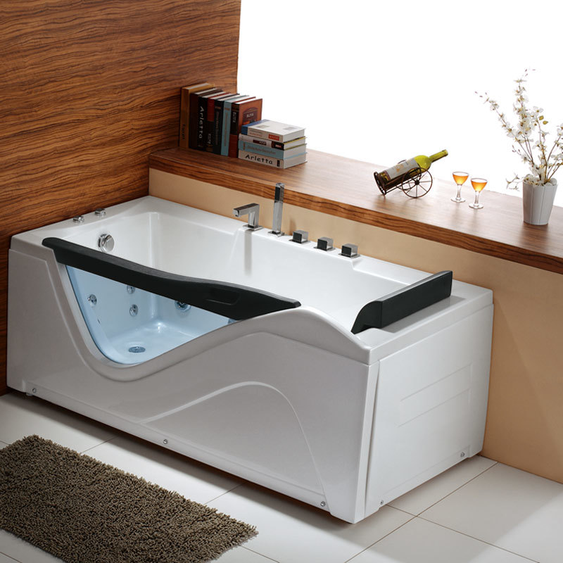 Oppein Portable White Family Whirlpool Massage Bathtub (op-w557)