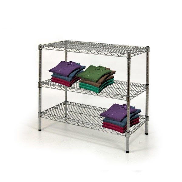 Metal Wire Display Rack, Display Stand Shelf for Shop