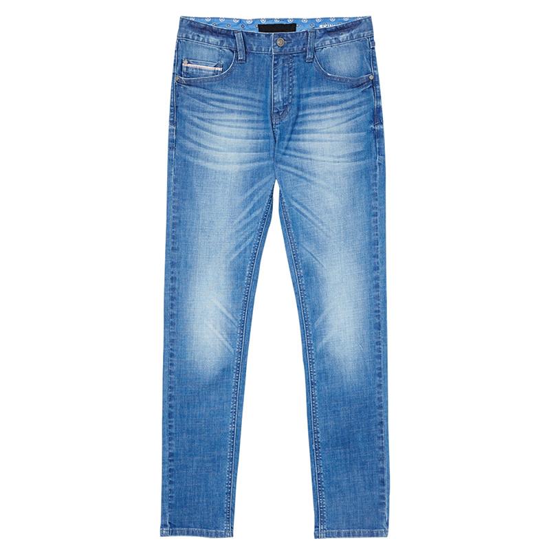 2017 Cheap Men′s Brand Blue Jeans Basic Denim Trousers