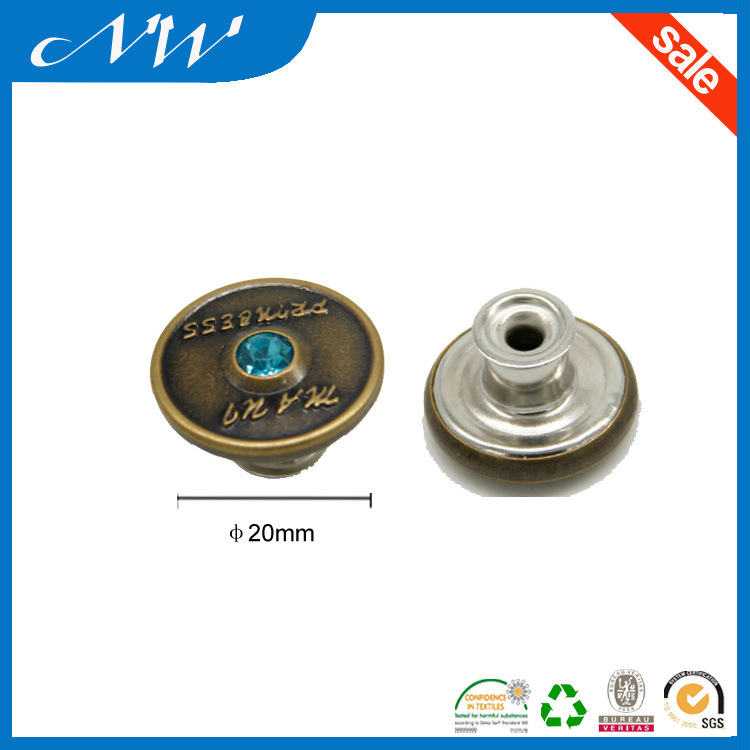 Hot Sale Fashion Metal Buttons Shank Button for Jeans