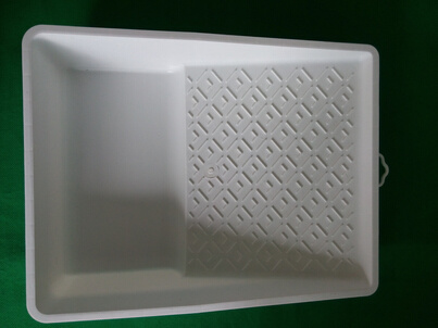 """7"""" White Virgin Material Paint Tray"""