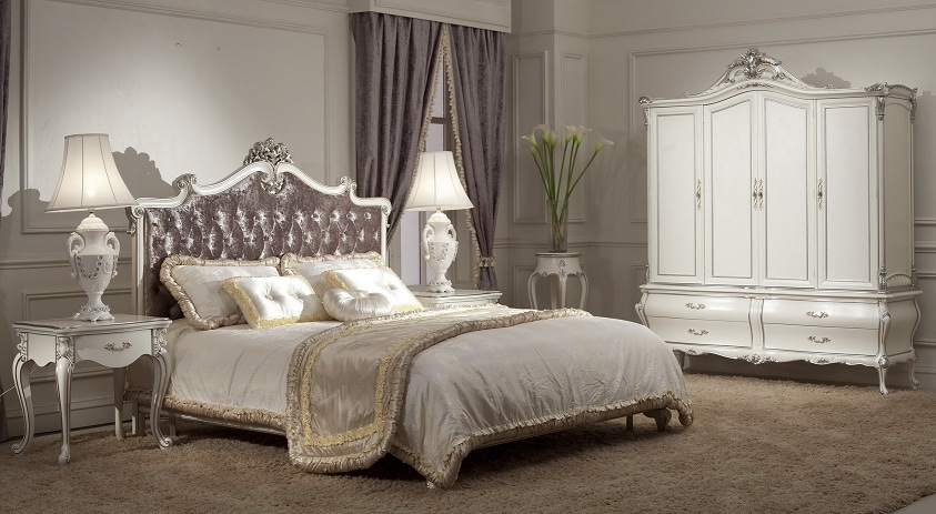 Classical Wooden Bedroom Furniture Bed (SM-A1001A-2)