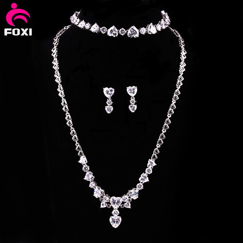 Most Popular Ladies Gemstone Gold Plated Necklace Set Jewelry