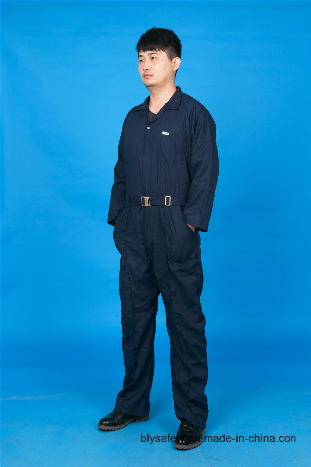 65% Polyester 35%Cotton Long Sleeve Safety High Quality Cheap Workwear Coverall (BLY1018)