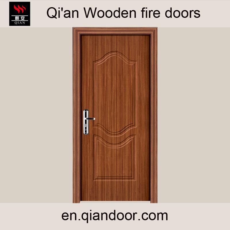 Veneered HDF Wooden Composite Fire Door Factory