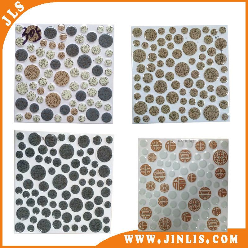Blue Green Black Yellow Colors Square Spot Ceramic Floor Tile