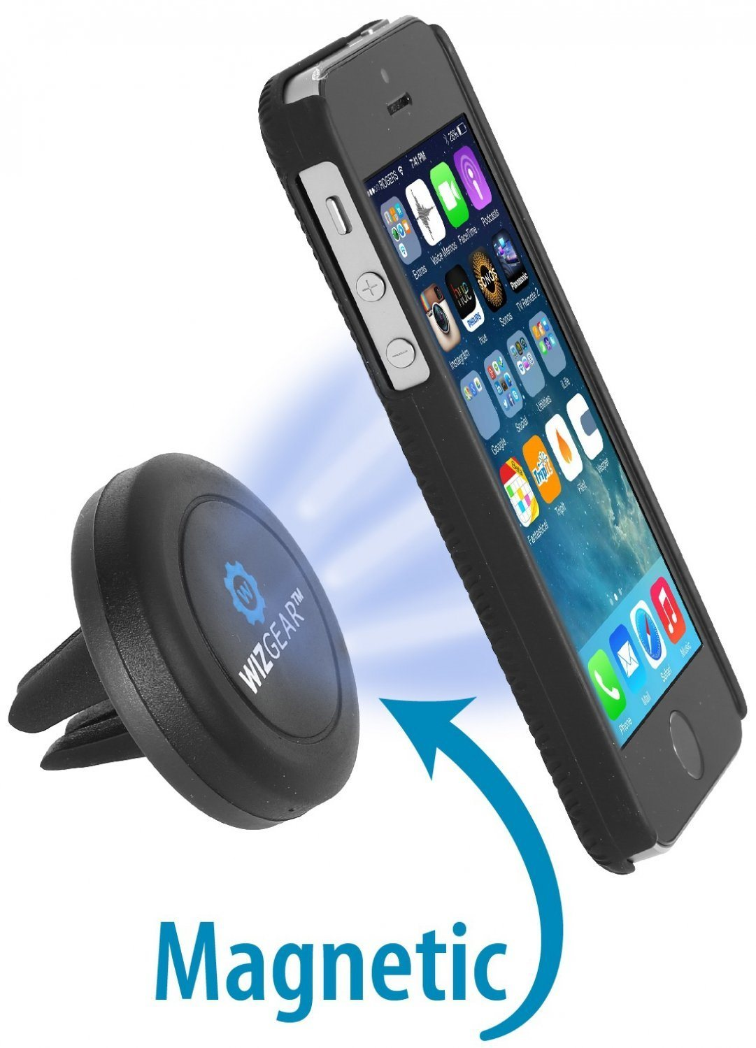 Universal Air Vent Magnetic Car Mount Holder for Cell Phones