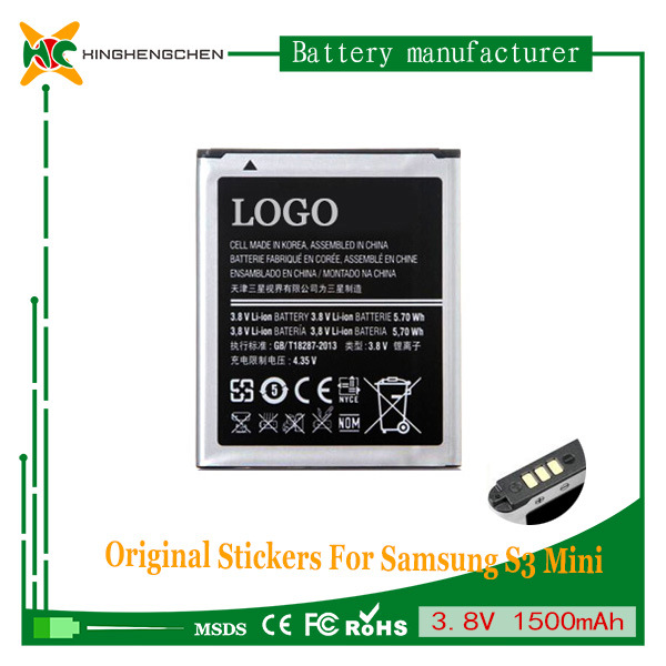 Replacement 1500mAh Mobile Phone Battery for Samsung S3 Mini I8190