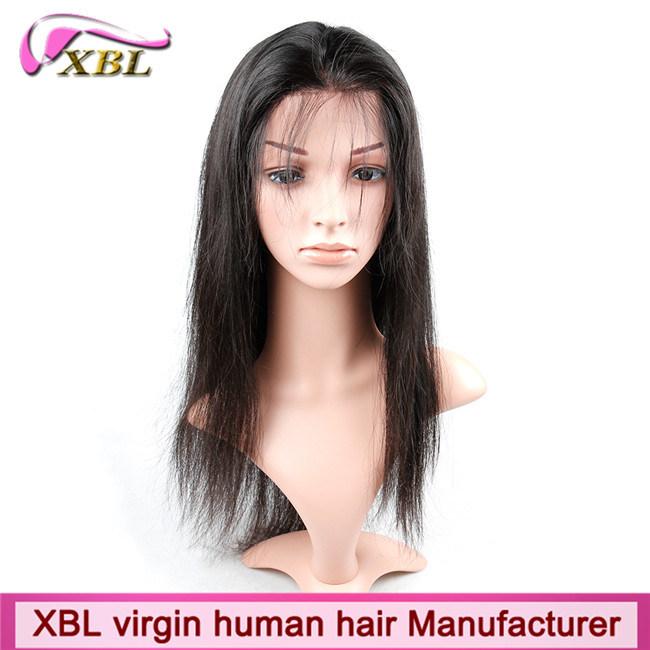 100% Natural Human Hair Virgin Peruvian Hair Full Lace Wig