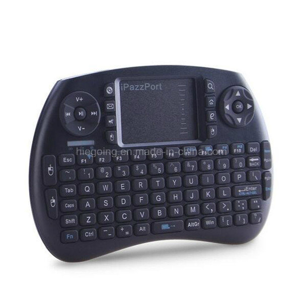Ipazzport Wireless Keyboard 2.4G LED Backlit Keyboard with Touchpad