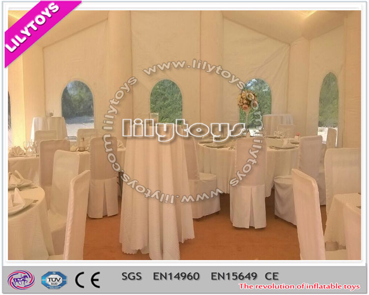 Beautiful White Color Inflatable Wedding Tent for Rent