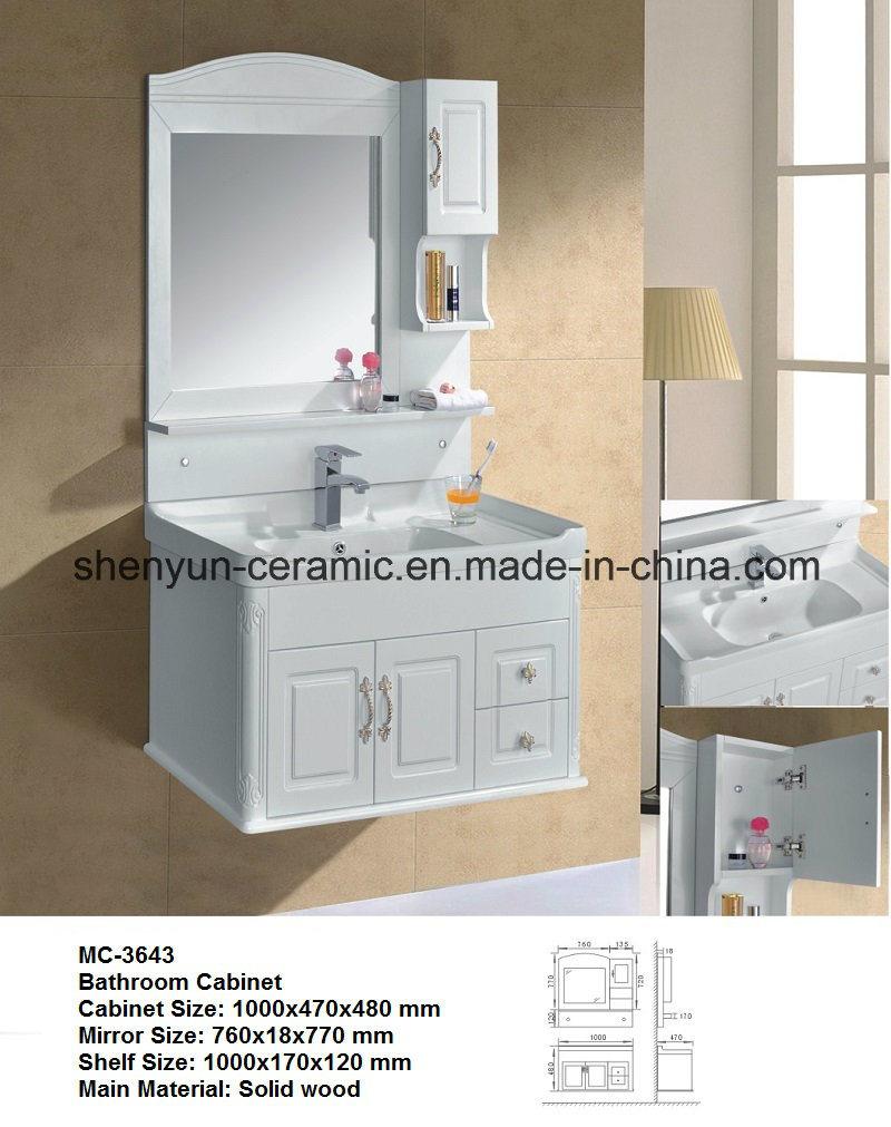 Bathroom Furniture Bathroom Cabinet with Wash Basin (MC-3608)