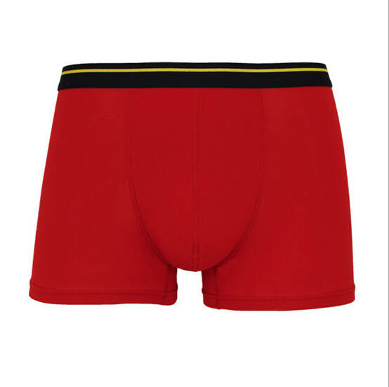 Zn-020 Cheap Customize Bamboo /Spandex Knitted Breathable Mens Boxers