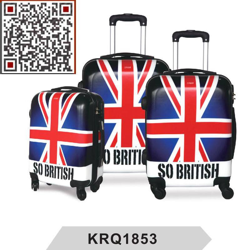 British Flag Printing PC Travel Trolley Luggage