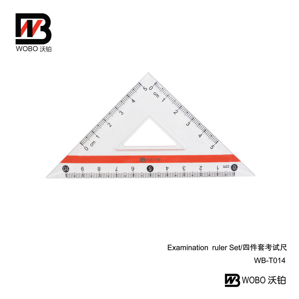 2016 Multifunctional China Examination Ruler Set for Stationery Use