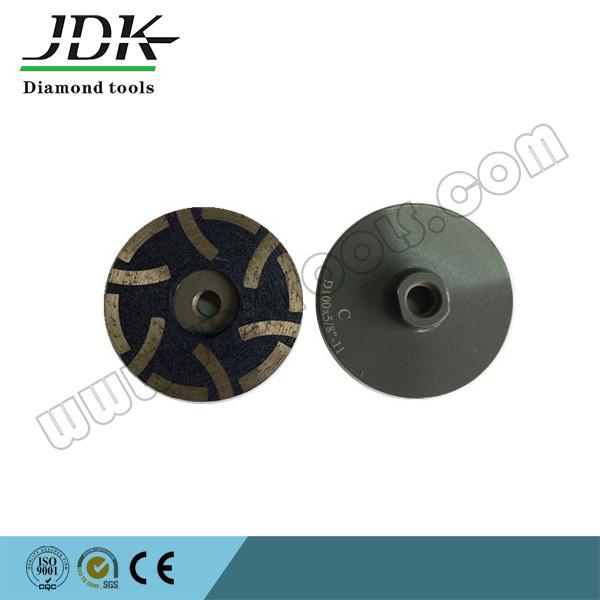 "100*5/8"" Diamond Resin Filled Cup Wheel for Granite Grinding/Polishing Wheel"