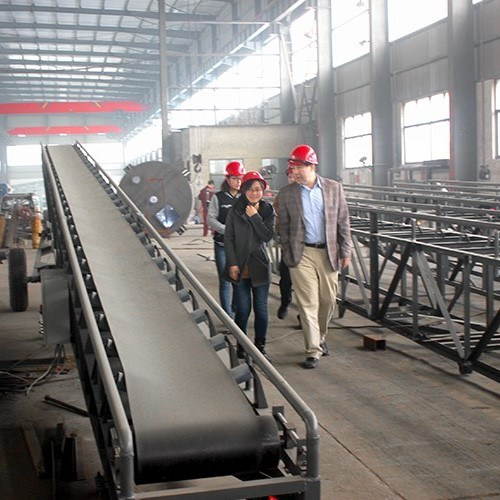 Horizontal Gravel Coal Rocks Mobile Belt Conveyor