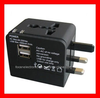 Universal Travel Adapter Plug with USB