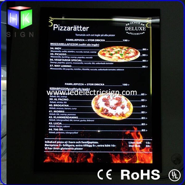 Aluminum Magnetic Frame Advertising LED Light Box for Advertising Display