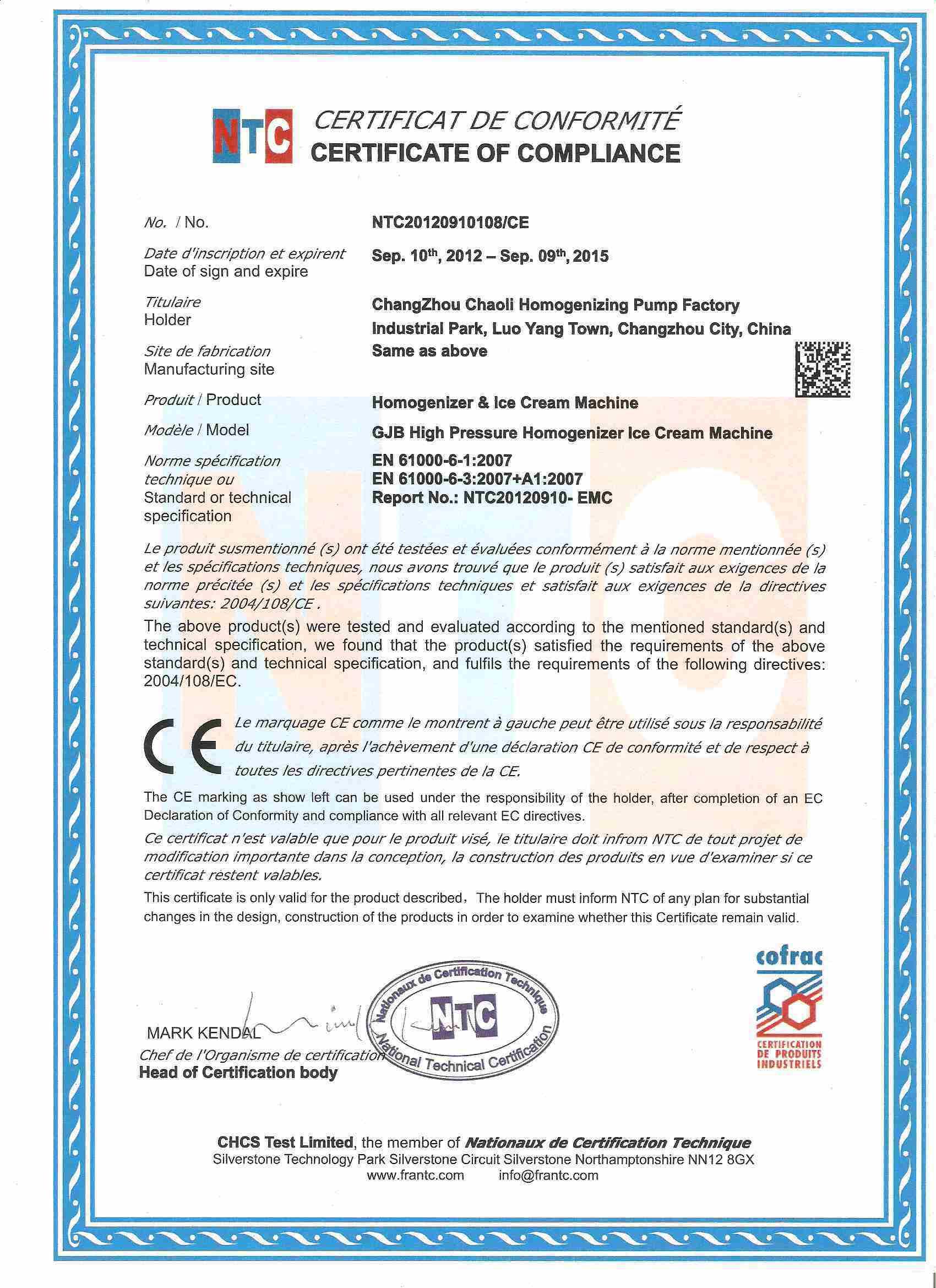Stainless Steel Emulsify High Pressure Homogenizer (GJB3000-60)