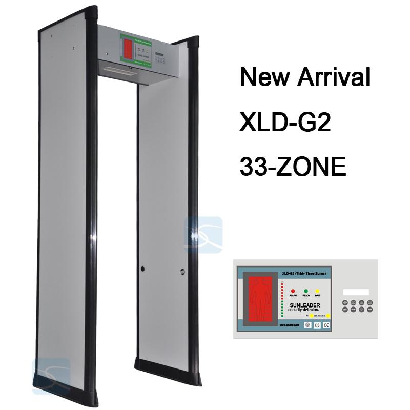 33 Zones Security Archway Door Frame Walk Through Metal Detector Gate Xld-G2
