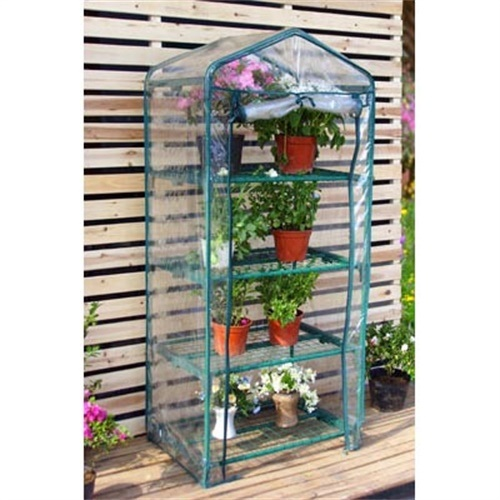 4 Tier Mini Greenhouse with PVC Cover