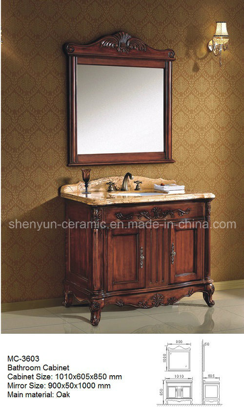 Bathroom Furniture Bathroom Cabinet with Wash Basin (MC-3603)