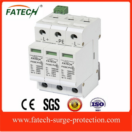 CE approved 1000VDC Photovoltaic Surge Protective Device Surge Protection (Type 2, 40kA)