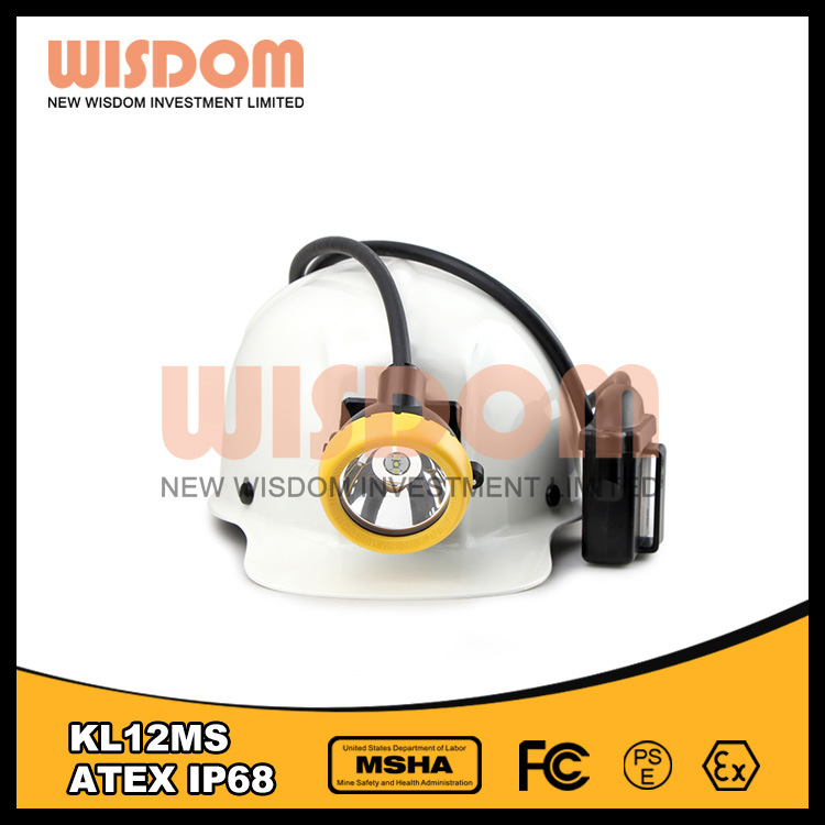 Wisdom Portable LED High-Power Cap Lamp, 25000lux Mining Light Kl12ms