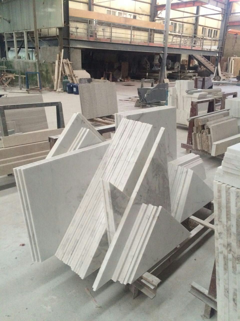 china castle white marble stone sculpture for plaza decoration