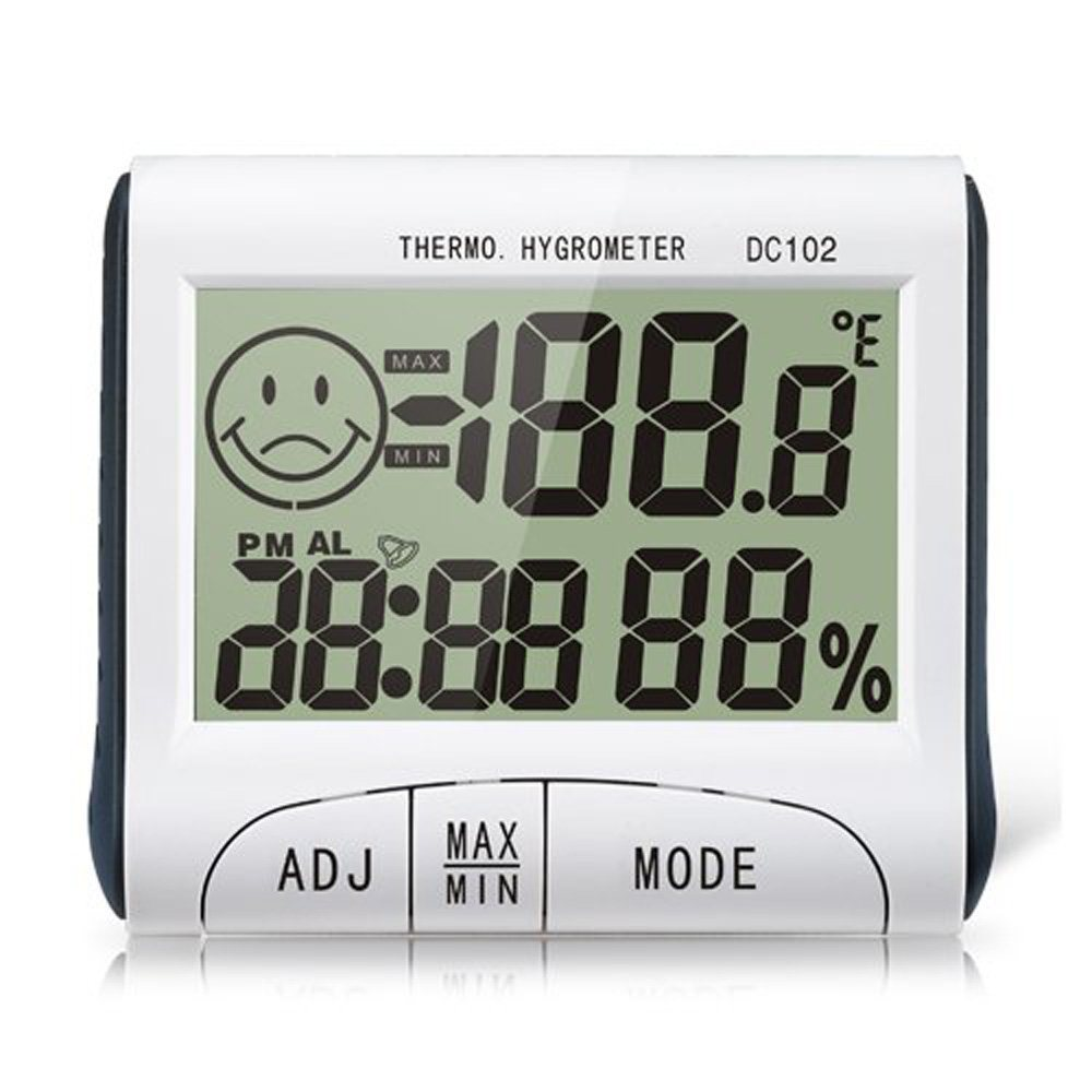 LCD Digital Indoor Desk Wireless Hygrometer Thermometer Humidity Monitor