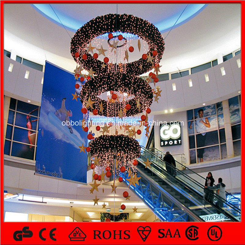 China ce 2015 shopping mall hanging lighted christmas for Christmas decorations online shopping
