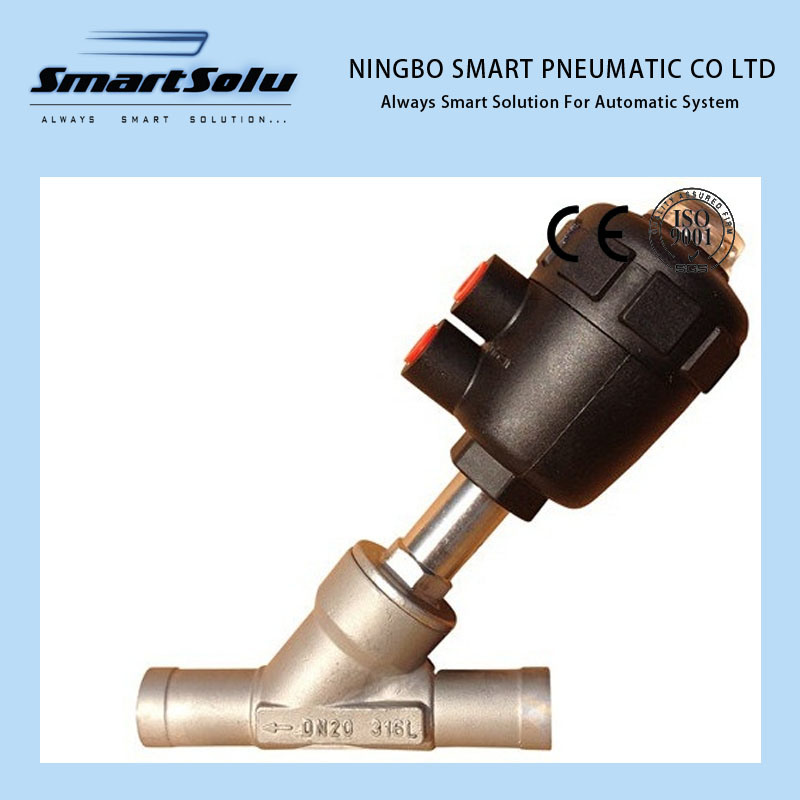 Stainless Steel Material Pneumatic Angle Seat Valve