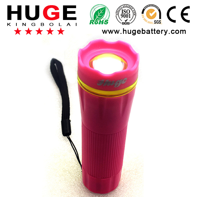 4.5V1w Portable Colorful LED Flashlight ---Plastic Torch (4.5V 1W)