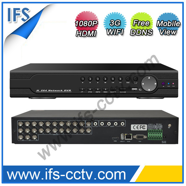 24CH H. 264 Network P2p DVR/NVR/HVR with 1080P HDMI (ISR-S5224)