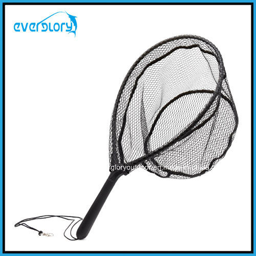Rubber Coating Nylon Net Fly Fishing Net Landing Net Fly Tackle