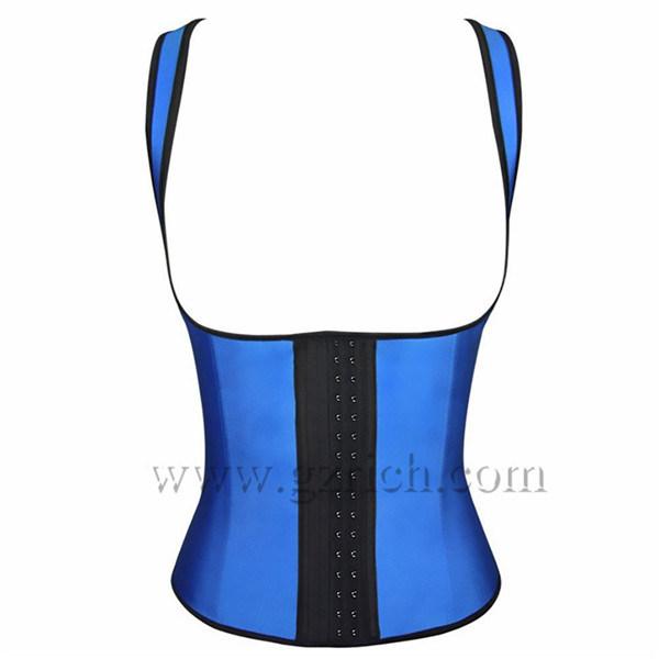 Women Latex Rubber Waist Training Body Shaper Cincher Underbust Corset
