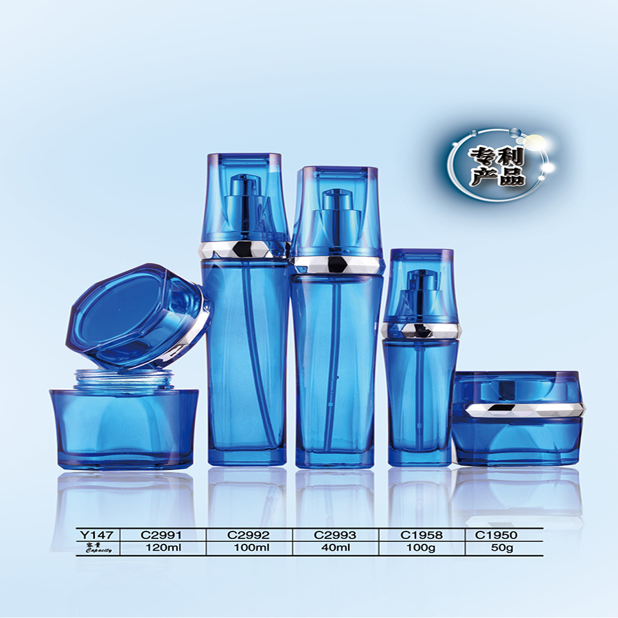 Luxury 120ml Aluminum & Glass & Plastic Jars and Airless Bottles for Facial Cream Packaging