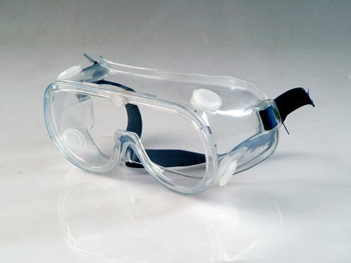 PVC Frame PC Lens Safety Goggles