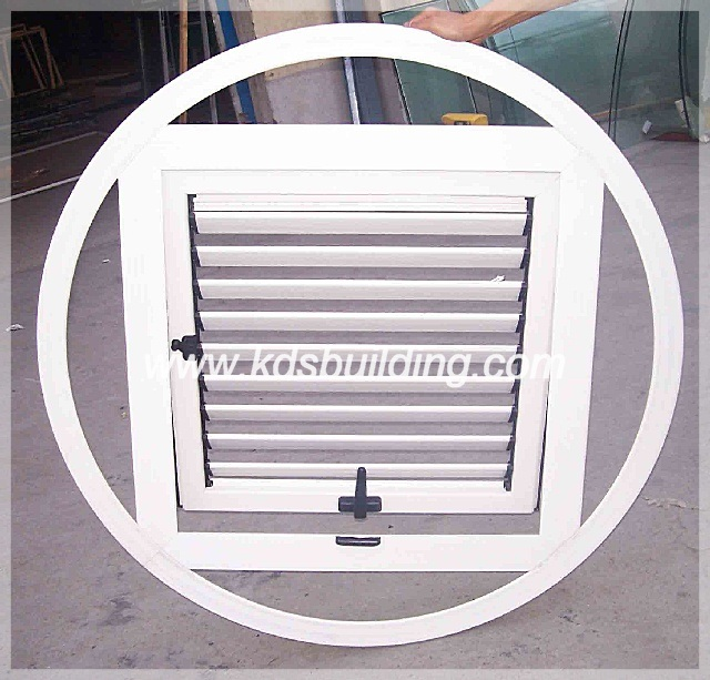 Good Air Tightness Openable Screen Aluminum Glass Shutter